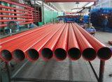 Tubulação de aço pintada vermelha do sistema de extinção de incêndios da luta da proteção de incêndio do sulco BS1387 médio
