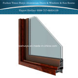 Алюминиевое фикчированное окно с двойным Toughened стеклом
