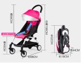 Einfacher Aluminiumlegierung-beweglicher Regenschirm-Baby-Spaziergänger