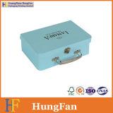 Коробка подарка роскошного хранения вина конструкции упаковывая бумажная с ручкой металла