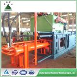 L'iso di TUV che ricicla la pressa per balle orizzontale idraulica della carta straccia lavora