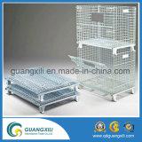 Складной складной стальной контейнер паллета клетки хранения ячеистой сети