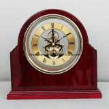 Glossry reloj esqueleto de madera de palisandro