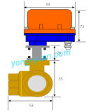 Tipo motorizzato ottone a tre vie della valvola a sfera Dn15 L/T (BS-898-15S)