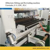 China Automatic Plastic Film Paper Slitter Rewinder mit Pneumatic Knife