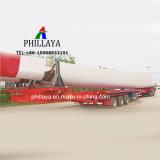 3 degli assi 60tons 45m Windblade del mulino a vento del camion rimorchio allungabile di Lowbed semi
