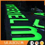 Cartas de acrílico plásticas delanteras publicitarias impermeables al aire libre por encargo de la luz 3D del LED