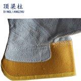 Перчатка водителя заварки коровы 10.5 дюймов кожаный работая