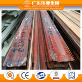 Weiye Brand Red Wooden Grain Transfer Aluminum Extrusion