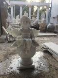 Reine weiße Marmorengel-Skulpturen