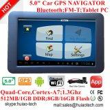 """Système 2017 de navigation portatif du véhicule GPS d'OEM d'usine avec """" écran tactile 5.0, Poids du commerce-dans, Bluetooth, émetteur FM ; Carte européenne de GPS, TMC, fonction d'ISDB-T TV"""