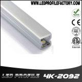 Aluminium extrudé pour bande LED lumière, profil de canal d'aluminium, Canal de bandes LED