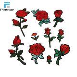 Zone su ordinazione della Rosa del ricamo di alta qualità della fabbrica della Cina