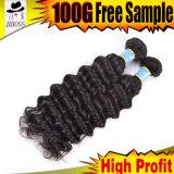 100% non transformé on cheveux humains péruviens de pouce