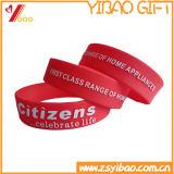 Braccialetto/Wristband del silicone del regalo di promozione con il marchio su ordinazione