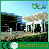La estructura del techo de policarbonato Aluminuim Parking Publicidad arroja CPT (164)