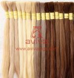 Massa grezza naturale dei capelli umani di Remy dei capelli di angelo della fabbrica