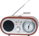 Réveil en bois avec la radio (F4304)
