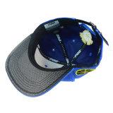 Casquillos azules modificados para requisitos particulares del sombrero y del bordado 3D de la alta calidad