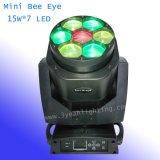 7*15W RGBW 4 in 1 indicatore luminoso capo mobile dell'occhio dell'ape del LED