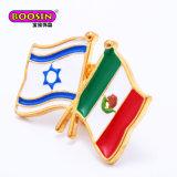 Hot Vente de l'émail métalliques personnalisées Les drapeaux des pays de l'épinglette Aucun minimum