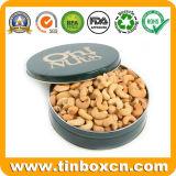 Categoría alimenticia modificada para requisitos particulares alrededor del estaño del anacardo del rectángulo de almacenaje del metal