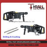 Benzin-leichter Handdrehbohrunghammer mit 2 Anfall