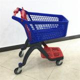 Магазинная тележкаа нового верхнего сегмента супермаркета вагонетки конструкции пластичная