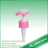 Pompe liquide de lotion de grande crème rose populaire de dosage