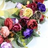 2017 Nuevo producto de la puerta del Jardín Colgante Artificial guirnalda Rosa corona de flores