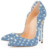 نساء [هي هيل] [أينتد] إصبع قدم يضخّ براءة اختراع أحذية لأنّ سيدات حزب ثوب