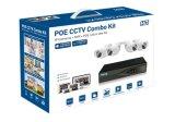2.0MP 4CH NVR Installationssätze imprägniern IRPoe CCTV-Sicherheit IP-Kamera