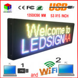 "P10 RGB屋外のLED表示53 "" X15 ""/プログラム可能なコンピュータの無線電信/USB/移動式無線印"