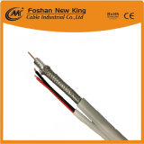 Cable coaxial Rg59 con el cable de transmisión de dos bases para el cable de las cámaras de seguridad (rg59+DC)