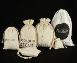 Saco relativo à promoção personalizado da lona do algodão, saco de Drawstring, saco de Tote