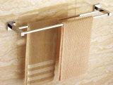 Стена установила латунную двойную отделку 6302 крома штанги полотенца