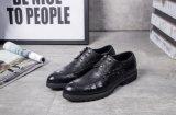 事務所のためのイタリアメンズ革黒の服靴