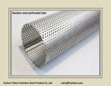 Pipe perforée d'acier inoxydable d'échappement de silencieux de SS304 63*1.2 millimètre
