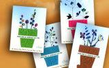 La bendición de encargo del diseño desea la tarjeta impresa del papel