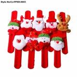 新型のクリスマスのサンタの非難の腕輪の装飾のプラシ天の軽打手のリング