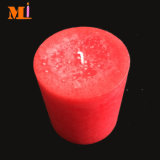 Ausgewählter Paraffin-reizend Farben-Pfosten-Kerze-dunkelroter Großhandelslieferant des Material-100%