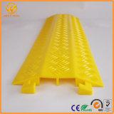 Портативная&открытый пластиковый желтый 2-канальный кабель рампы