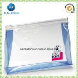 Archivo de PVC de plástico transparente de promoción de la bolsa de cremallera (JP-plástico068)