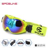カスタムロゴはギョロ目メンズレディースによって映されるレンズを競争させるスノーボードを反紫外線スキーオートバイの安全メガネ決め付ける