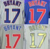 Chicago Cubs №17 Крис Брайант Белого дома/альтернативные синий/серый/Gold Джерси
