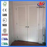 Отлитая в форму дверь складчатости шкафа Veneer твердая деревянная (JHK-B05)