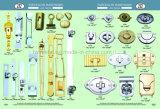 Handtaschen-Befestigungsteilegunmetal-Kippen-Verschluss mit preiswerterem