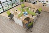 Madeira simples Eco-Friendly L Writting Secretária com armário
