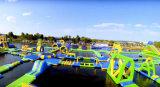 Crazy inflables divertidos juegos de agua, el parque de atracciones de agua móvil