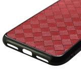 Caja ultra de cuero de la venta al por mayor para la caja tejido X del teléfono del silicio de la piel del cuero del modelo de la armadura del iPhone para el iPhone 8 más